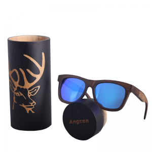 Men's Polarized Wooden Sunglasses with Case Vintage Bamboo